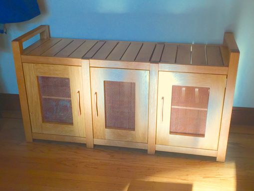 Custom Made Shoe Storage Bench