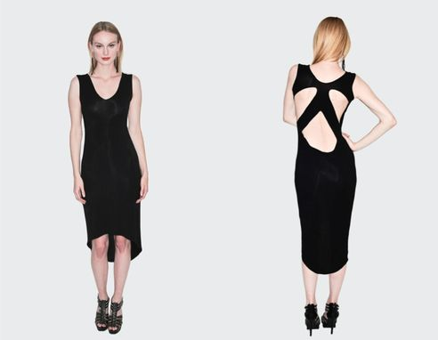 Custom Made Modern Cut-Out Dress