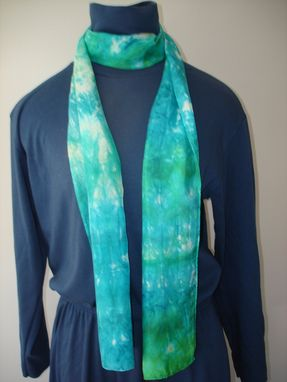 Custom Made Hand Dyed Silk Scarf