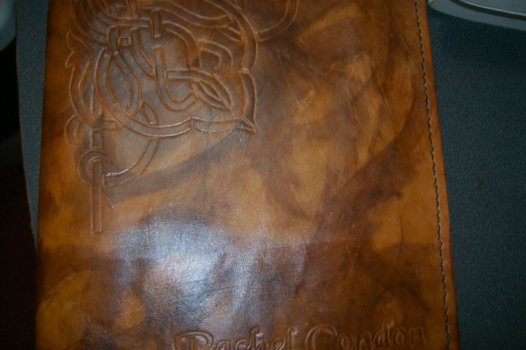Buy a Hand Crafted Custom Leather Portfolio With Celtic