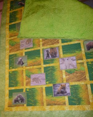 Custom Made Custom Made Bear Photo Quilt