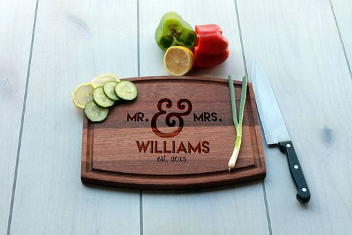 Custom Made Personalized Cutting Board, Engraved Cutting Board, Custom Wedding Gift – Cba-Mah-Williams