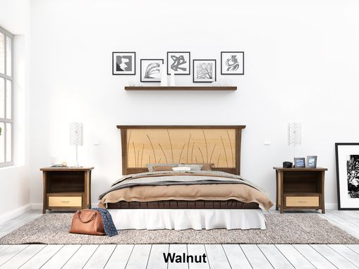 Custom Made Walnut Headboard Queen Size, Bed, Solid Wood Headboard, King,