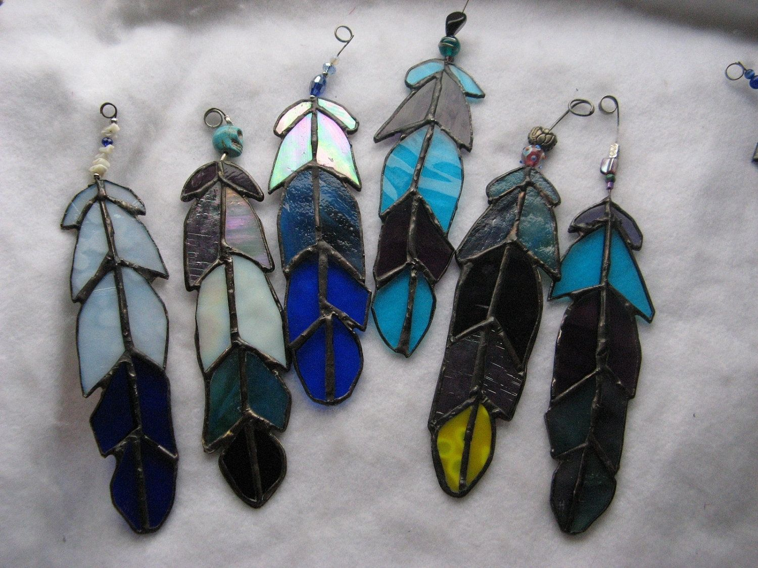 Buy A Handmade Beaded Stained Glass Eagle Feather Made To