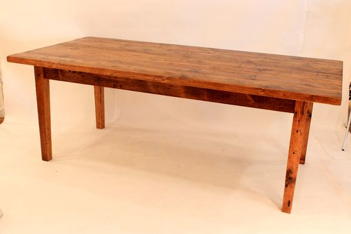 Custom Made Reclaimed Antique Pine Thick Top Farm Table