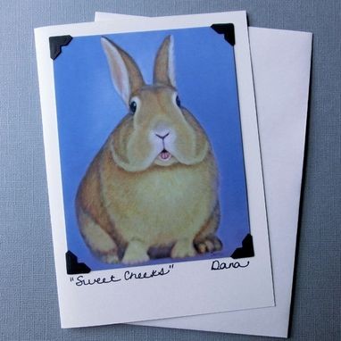 Custom Made Bunny Card - Rabbit Card - Easter Card & Postcard - Easter Bunny