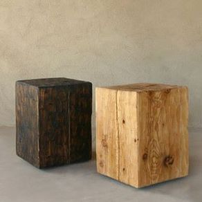 Reclaimed Barn Beam Side Table By Angela Crouse