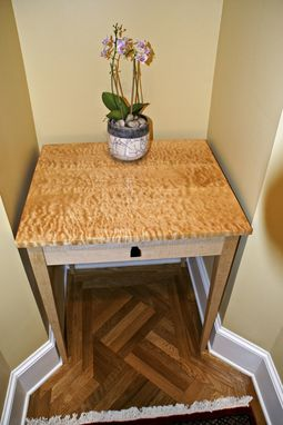 Custom Made Quilted Maple Entry Table
