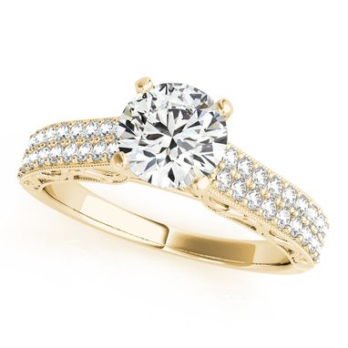 Custom Made Classy Diamond Engagement Ring And 14k White Gold 1/3ct