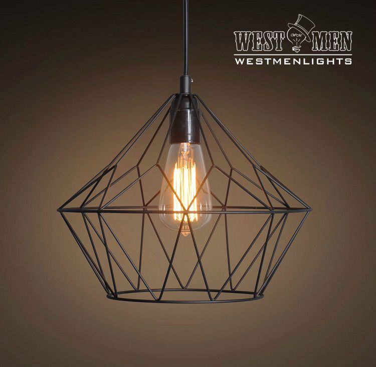 Custom Made Westmenlights Metal Wire Cage Pendant Light Hanging Lamp ...