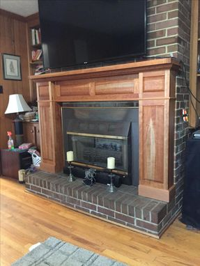 Custom Made Traditional Raised Panel Mantel