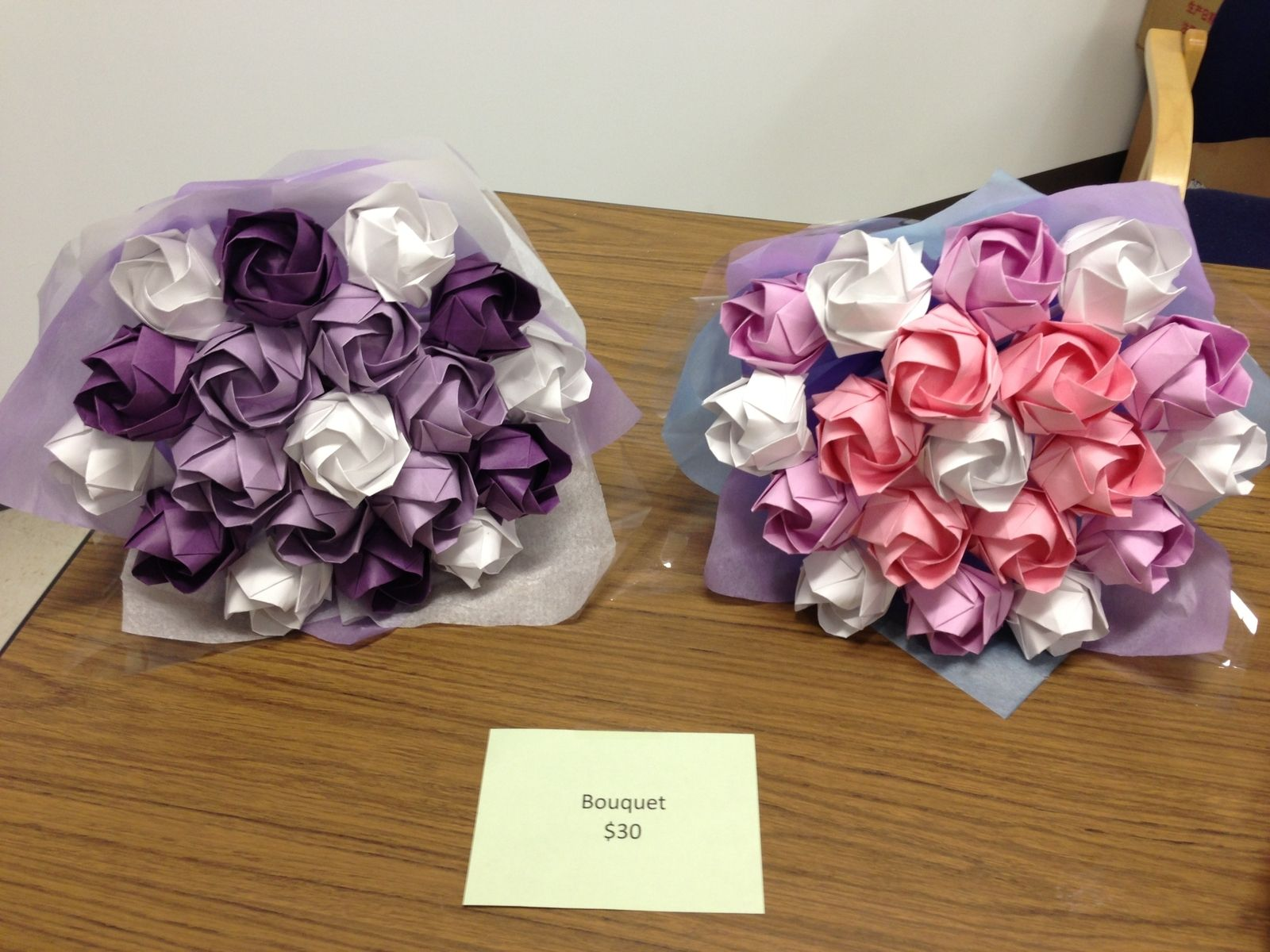 Hand Made Regular Flower Bouquets By Y Rose Origami Decoration