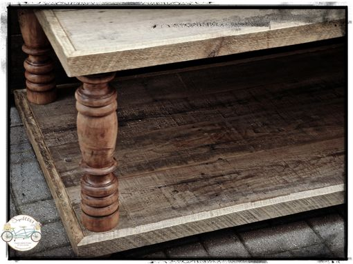 Custom Made Custom Reclaimed Turned Leg Table