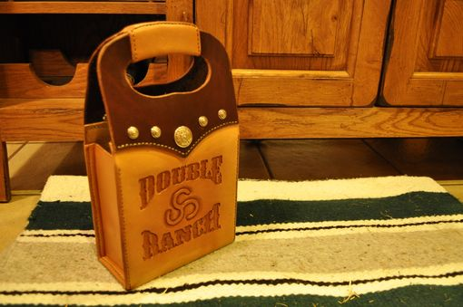 Custom Made Leather Wine Bag Carriers