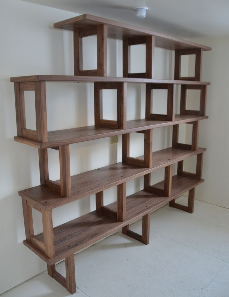 Handmade Walnut Bookcase Modern And Modular By Packsaddle