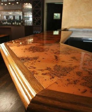Custom Made Copper Bar Tops