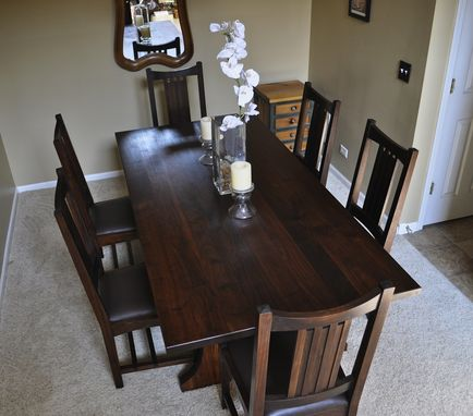 Custom Made Walnut Arts & Crafts Dining Table