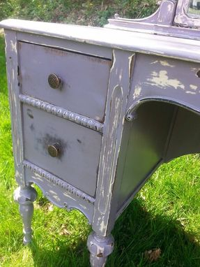 Custom Made Distressed Purple Vanity