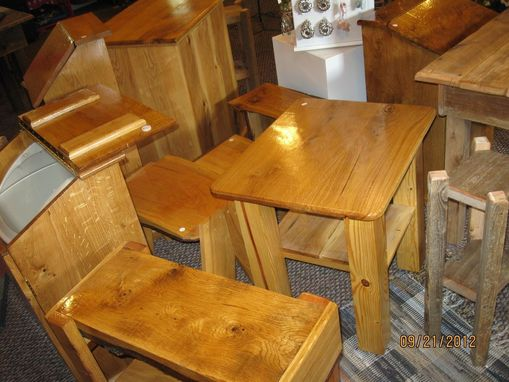 Custom Made Solid Oak Tables & Cabinets