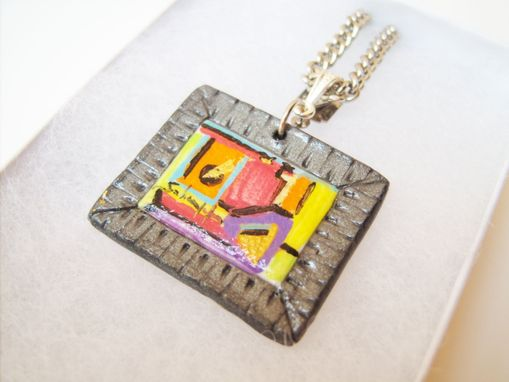 Custom Made Miniature Handcrafted Polymer Clay Framed Canvas - Hand Painted Original