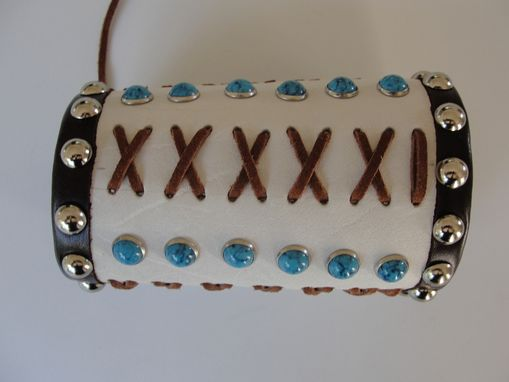 Custom Made 100% Leather Handmade Bracelet- Cuff