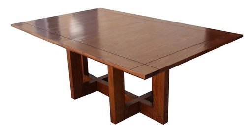Custom Made Mid-Century Modern Metro Extension Trestle Dining Table