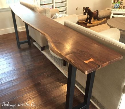 Custom Made Live Edge Sofa Table