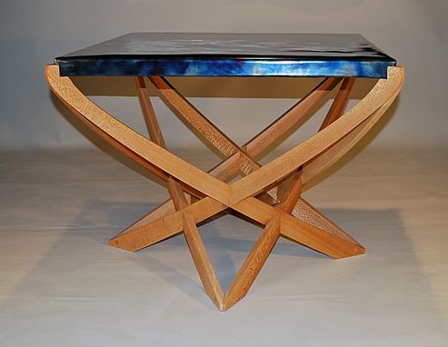 Custom Made Flame Patina Steel Table