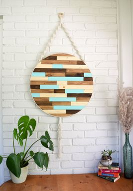 Custom Made Watts - Round Macrame Wood Wall Art Hanging