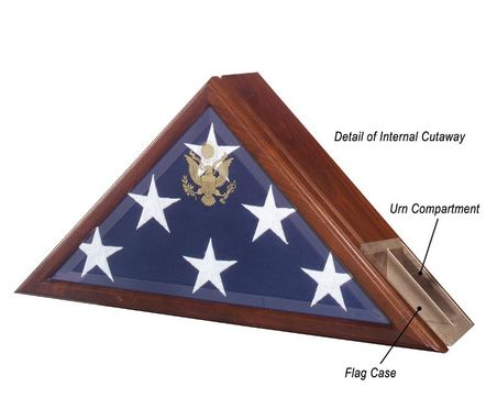 Custom Made Urn And Flag Case, Funeral Flag Case