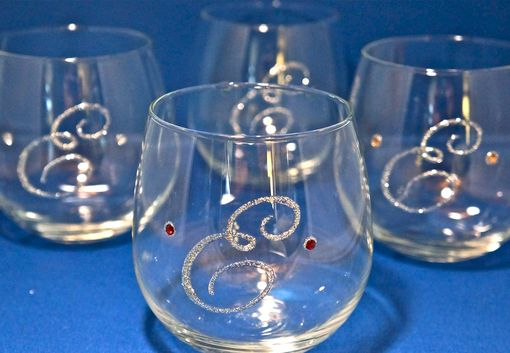 Custom Made Monogrammed Wine Glases