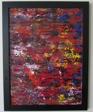Custom Made 11x14-Inch Multi-Color Commissioned Abstract Acrylic Painting In Customizable Colors