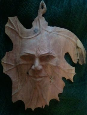 Custom Made Cedar Leaf Face Or Spirit Face