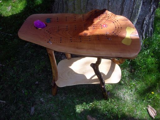 Custom Made Cherry Burl Cribbage Table