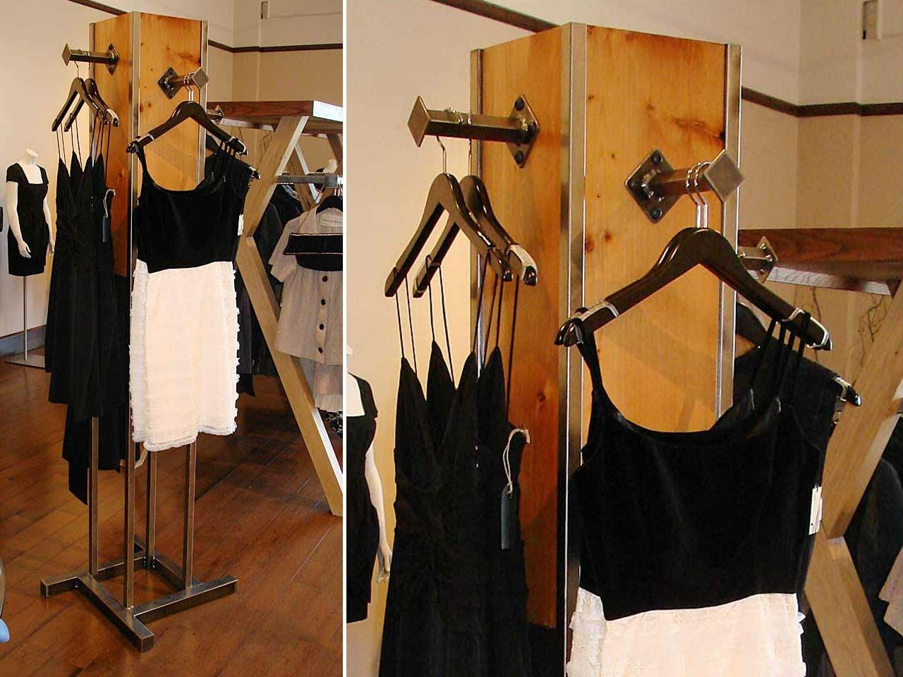 Handmade Freestanding Clothing Display Rack By Where Wood
