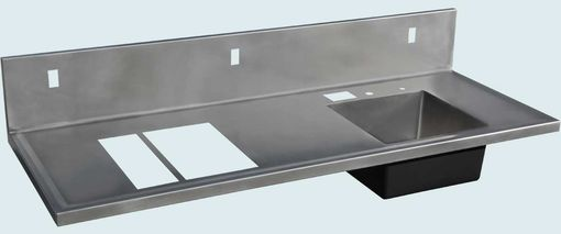 Custom Made Stainless Countertop With Multiple Cutouts