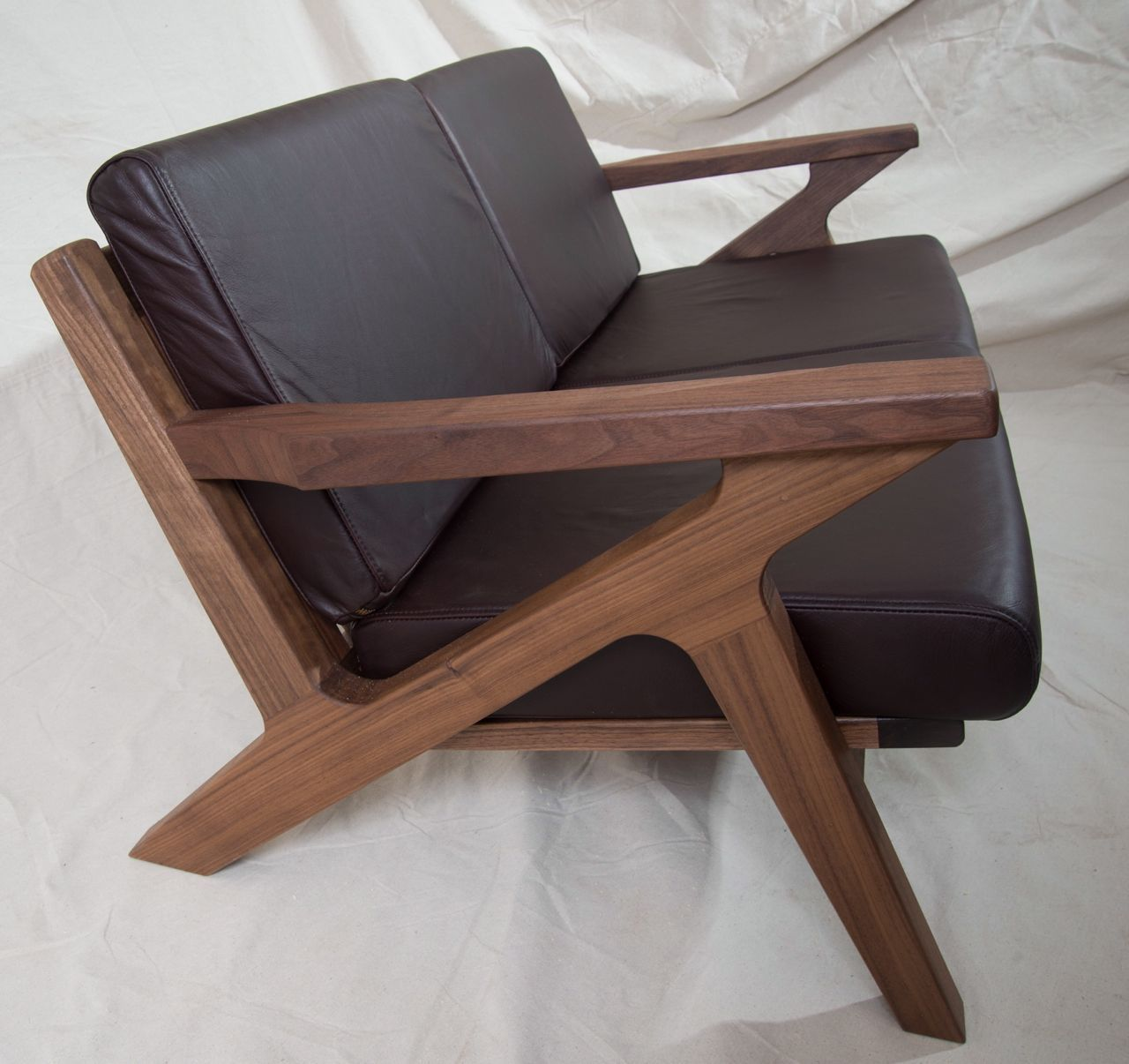 Custom made danish modern z chair