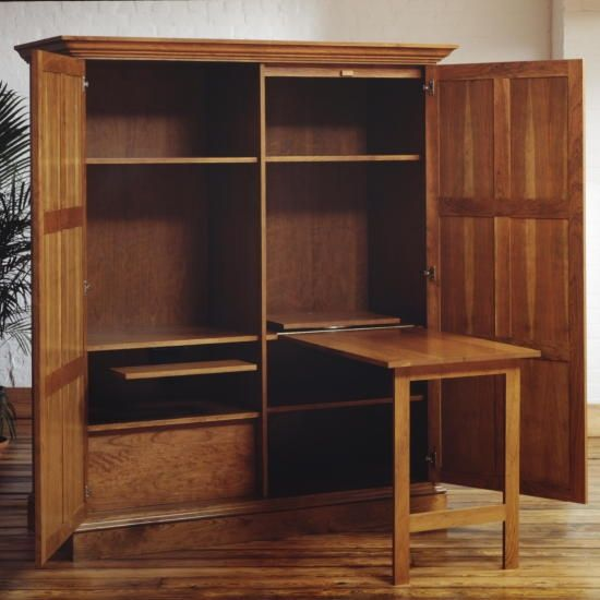 hand made cherry home office armoire in scarsdale, nyfrederick