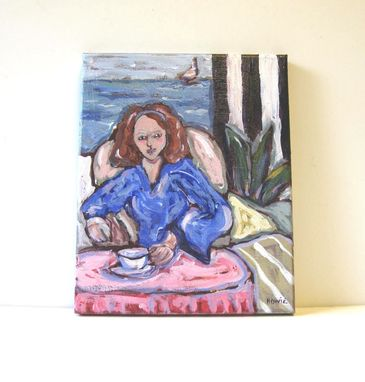 Custom Made Figure Portrait Painting Original Acrylic Painting Still Life