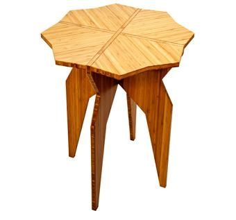 Custom Made Bamboo Star End Table