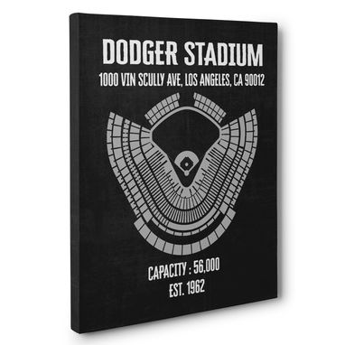 Custom Made Dodger Stadium Canvas Wall Art – Multiple Colors