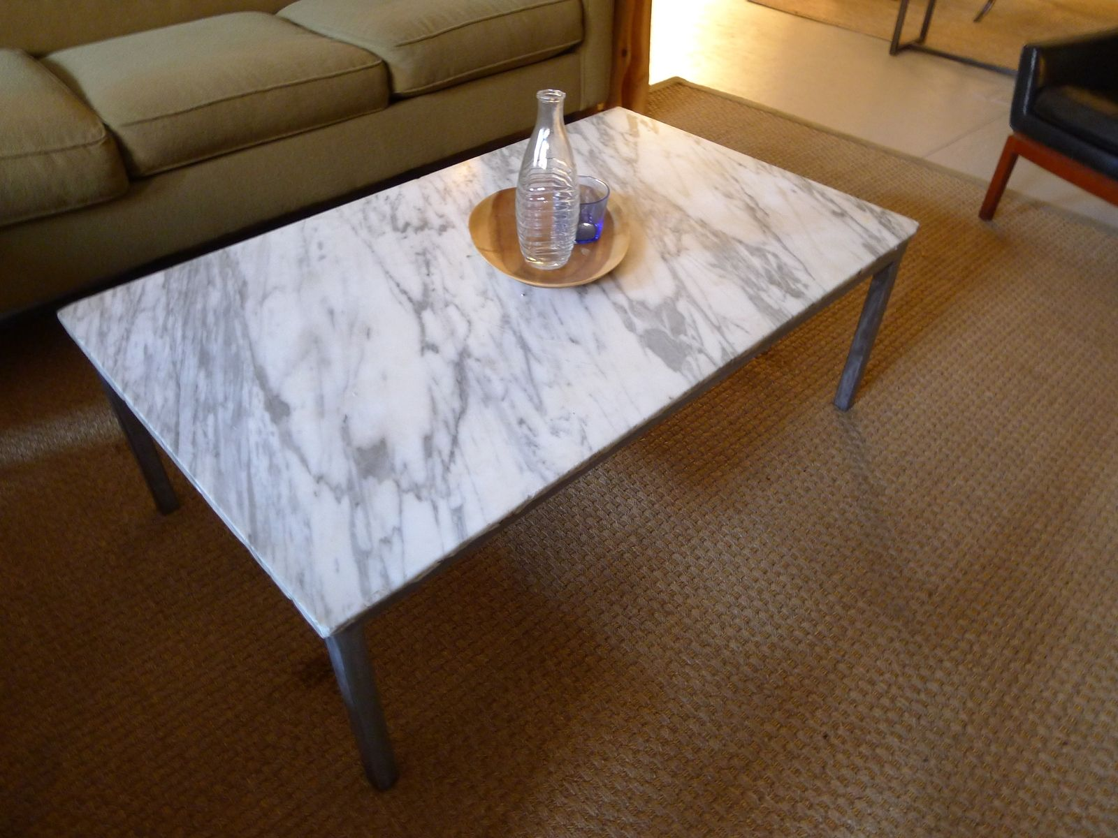 Hand Crafted Marble Granite Coffee Tables by Harvest Home Steel