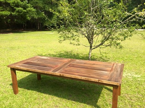 Custom Made Reclaimed Redwood Dining Table