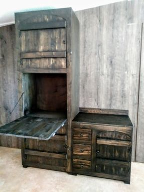 Custom Made Old World Vanity And Linen Closet