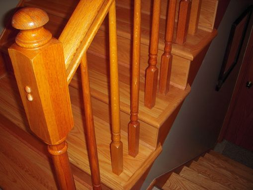 Custom Made Red Oak Stair Treads