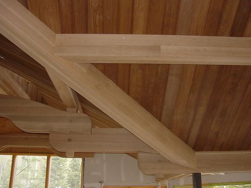 Hand Made Custom Quarter Sawn White Oak Box Beams By