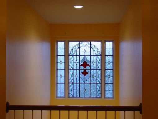 Custom Made Second Story Landing Stained/Leaded Glass Window