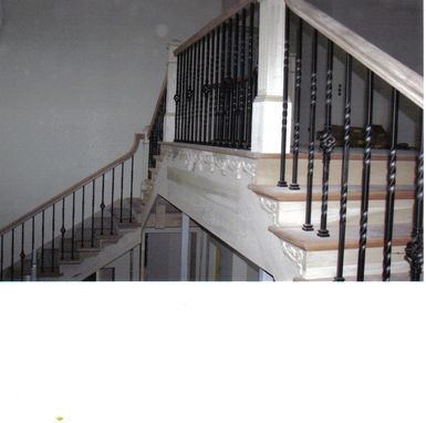Custom Made Straight Run Mahogany Stairway