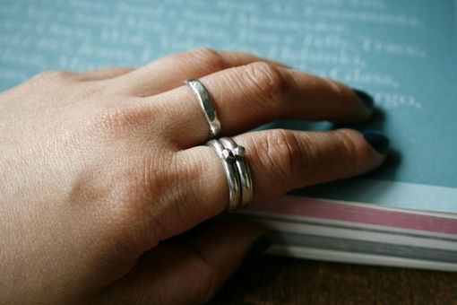 Custom Made 3 Sterling Silver Stacking Rings