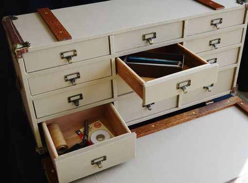 Custom Made Steamer Trunk Card Catalog File